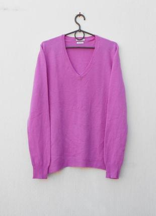 Мягкий осенний свитер с длинным рукавом из шерсти мериноса