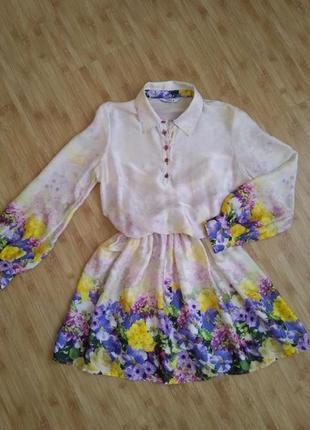Неймовірно красиве плаття, тканина шовк, підійде на розмір s та m