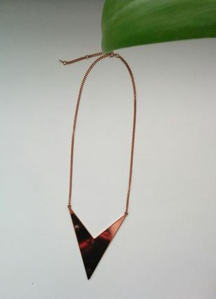 Уценка колье ожерелье кулон стрела указатель