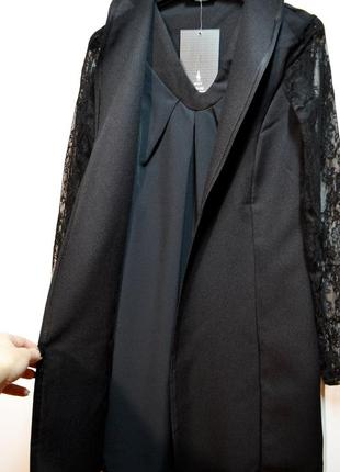 Двойка платье и кардиган и кружевными рукавами3 фото