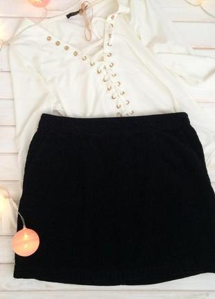 Базовая стильная вельветовая юбка new look