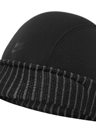 Оригинал шапка зимняя nike tn air трикотажная с козырьком утеплённая мужская