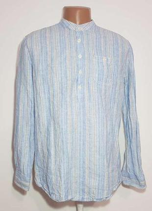 Рубашка john rocha, лен+хлопок, m-l, как новая!