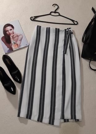 Стильная юбка на запах. размеры l