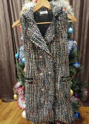 Нереально крутое твидовое платье - сарафан