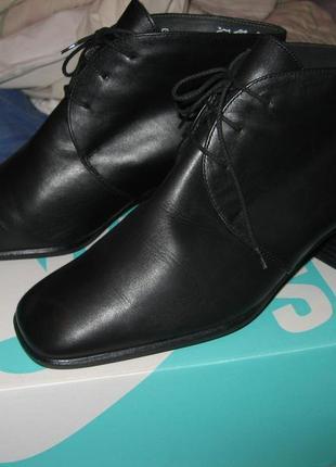 Модные ботинки сапоги туфли каблук натуральная кожа k+s shoes размер 39 по стельке 25