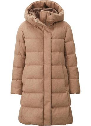 Пуховик uniqlo stretch wool blended down coat