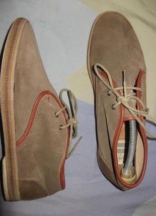 Мокасины туфли hudson замшевые 44 размер по стельке 29 см .