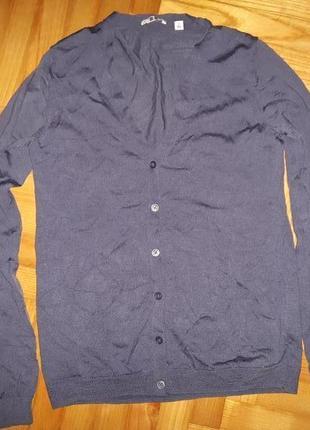 Кардиган, 100% pure new wool, от uniqlo! p.-s