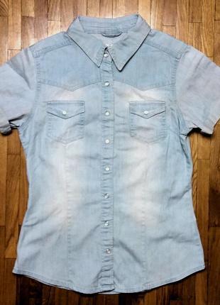 Джинсовая рубашка yes yes