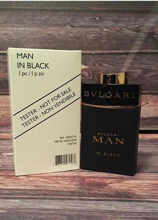Туалетная вода для мужчин , тестер 100  ml bvlgari man in black