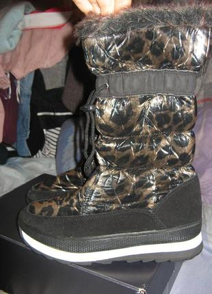 Ботинки сапоги замша и натуральный мех овца h&m размер 39 по стельке 25 см