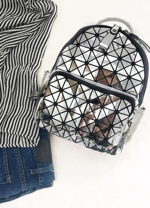 Голографический рюкзачок, битое стекло, в стиле baobao