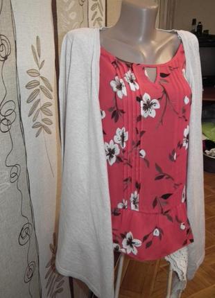 Идеальная блуза,кофта-обманка 2 в 1 next,р.12