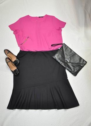 Классическая черная юбка с воланом большого размера 20 next