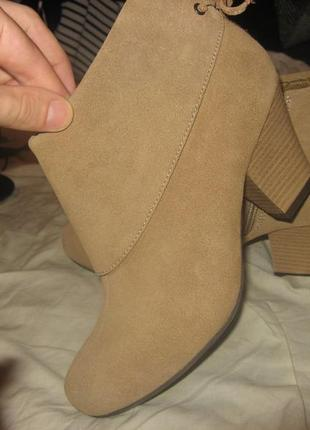 Сапоги ботильоны ботинки каблук skechers оригинал замша размер 38 по стельке 24.5 см
