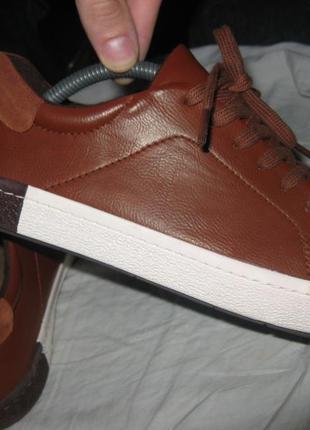 Кроссовки кеды осенние кожа next новые размер 38 по стельке 24.5 см