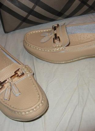 Мокасины туфли лоферы кожа jo&joe новые размер 39 по стельке 25 см