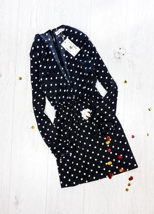 Сатинова сукня в горошок  in the style