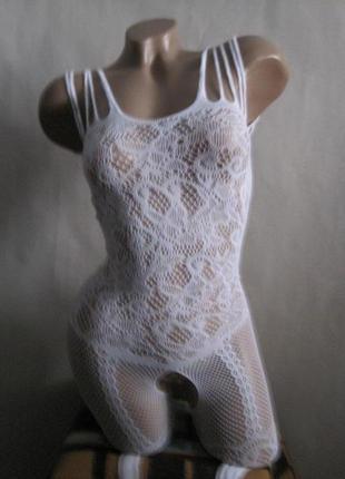 41 сексуальная боди-сетка с рисунком на рост от 170см