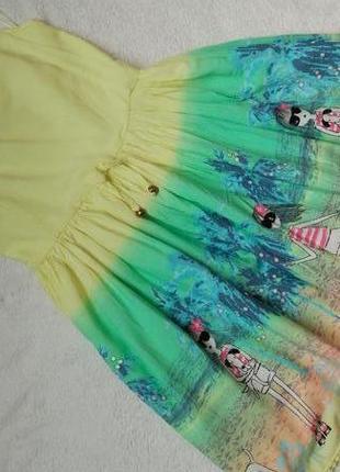 Яркий пышный сарафан платье george на 9-10 лет