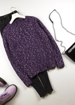 Милый свитер оверсайз джемпер меланж l xl