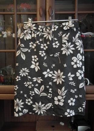 Идеальная красивая льняная юбка next,р.12,сток