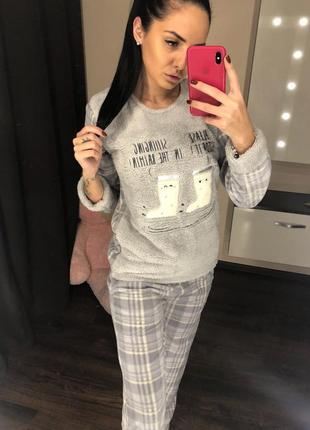 Теплая пижама домашний костюм ! размеры s-l