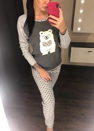 Пижама домашний костюм из хлопка размеры s-xl