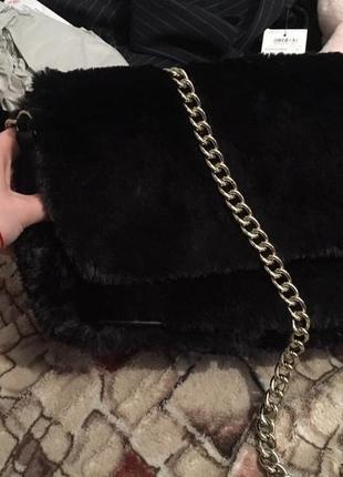 Плюшевая сумочка zara