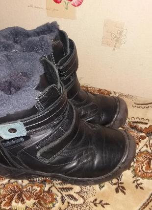 Зимние сапожки натур.кожа цигейка р.36(стелька 21.5см). ценс 120грн.