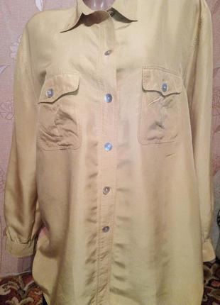 Классная легкая блуза, рубашка 50-52 etam