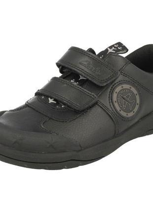 """Кожаные туфли школьные """"clarks"""" flying ace 87, размер 32 - 33"""