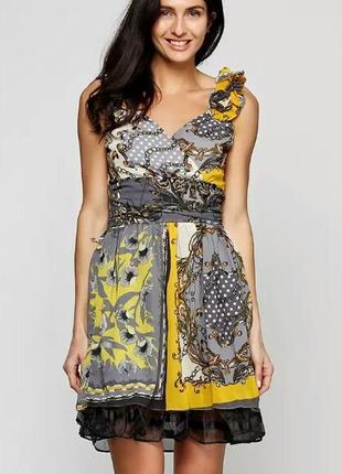 Новогодняя распродажа! летнее шёлковое платье sassofono р. 42 ( наш 48)