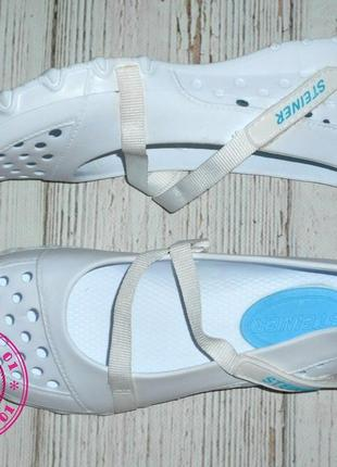 Белые кроксы, аквашузы steiner 36, 37, 38, 39, 40, 41 размер