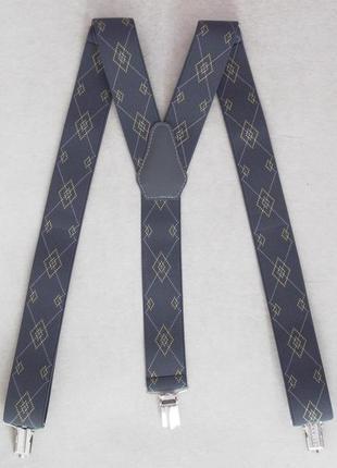 Серые мужские галстучные подтяжки (арт. 512)