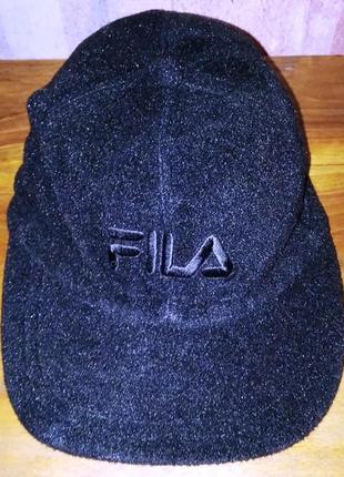 Флисовая кепка fila, с отворотом на уши
