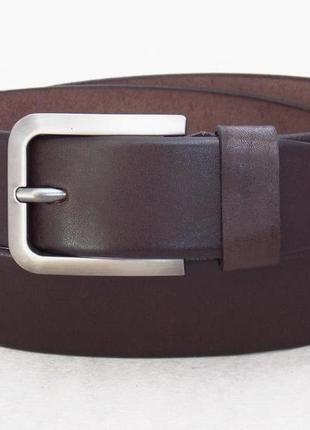 Мужской универсальный кожаный ремень темно-коричневый