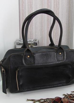 Практичная вместительная сумка hidesign, индия, натуральная кожа