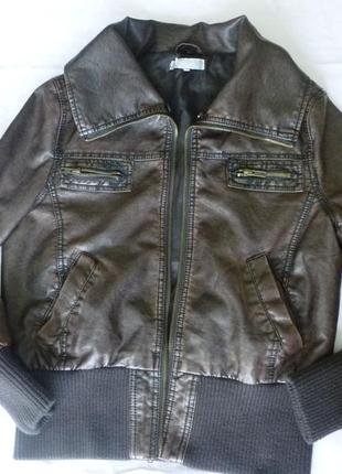 Стильная куртка пилот экокожа miso