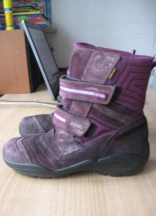 Ботинки ecco зимние на мембране gore-tex 35 размер1