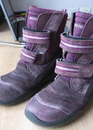 Ботинки ecco зимние на мембране gore-tex 35 размер2