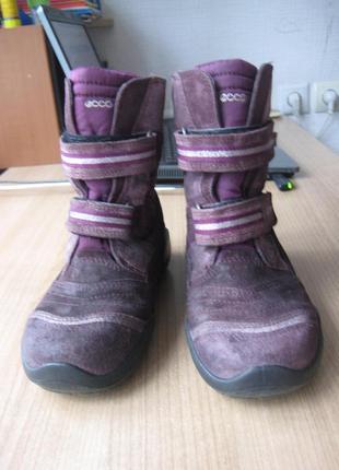 Ботинки ecco зимние на мембране gore-tex 35 размер3