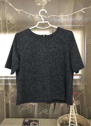 Баковая укорочённая футболка меланж