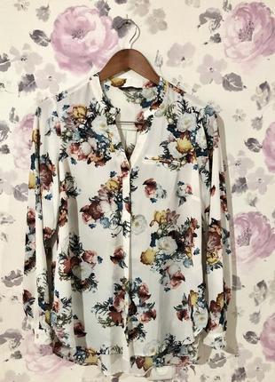 Блузка, цветочный принт