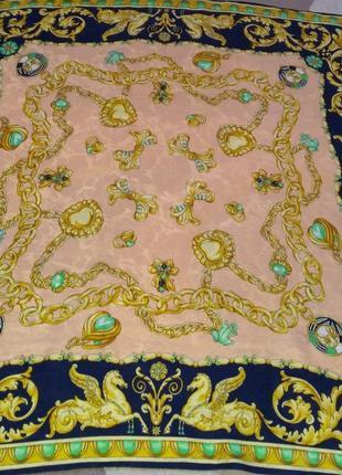 Шикарный платок 87*87 шов роуль