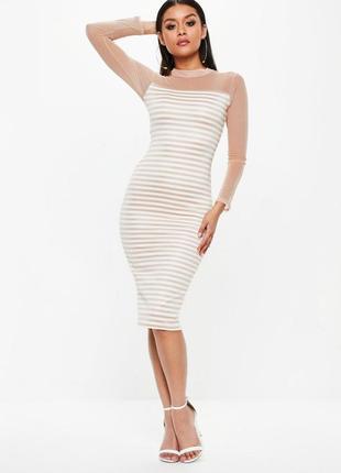 Идеальное миди платье с сеточкой