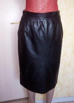 Отличная юбка из натуральной кожи/ юбка кожаная/юбка/кожаная юбка
