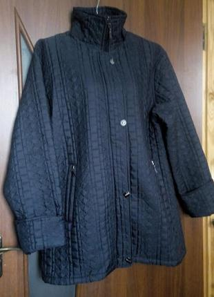 Синяя стеганая куртка большого размера батал