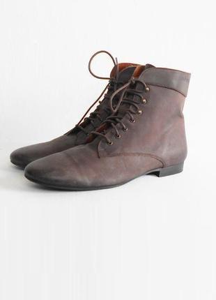 Демисезонные весенние кожаные ботинки